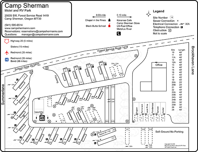 Camp Sherman Park Map