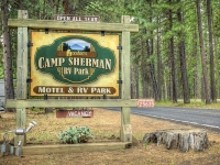 Camp Sherman RV Sign
